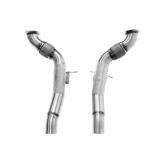 Ferrari 488 Decat Downpipes with Thermal Insulation