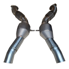 Ferrari 488 200 Cell Cat Downpipes with Thermal Insulation