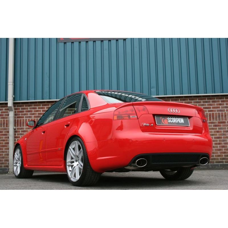 audi rs4 v8 b7 valvetronic resonated 2 5 cat back exhaust. Black Bedroom Furniture Sets. Home Design Ideas