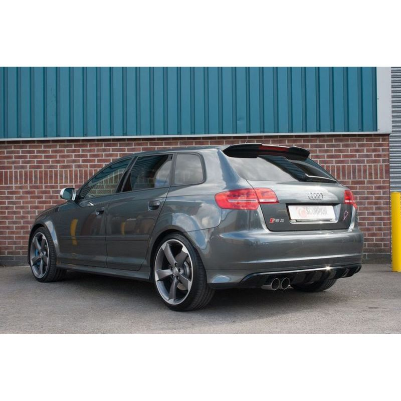 audi rs3 8p cat back resonated 2 5 exhaust. Black Bedroom Furniture Sets. Home Design Ideas