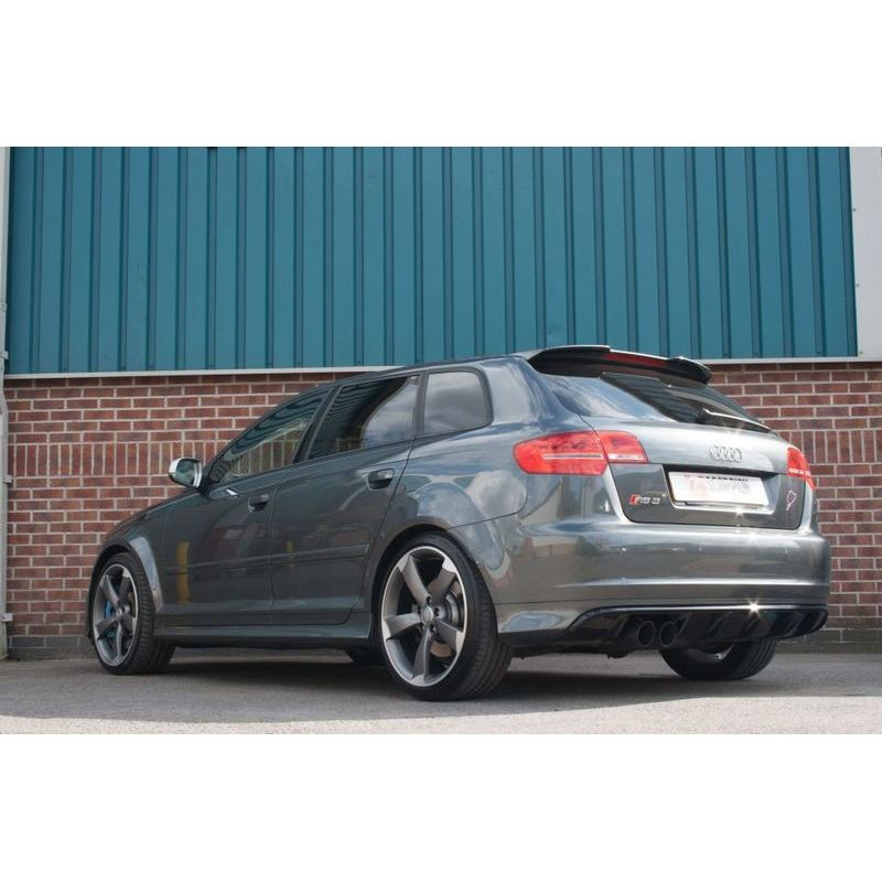 audi rs3 8p turbo back 3 exhaust with sports cats black tails. Black Bedroom Furniture Sets. Home Design Ideas