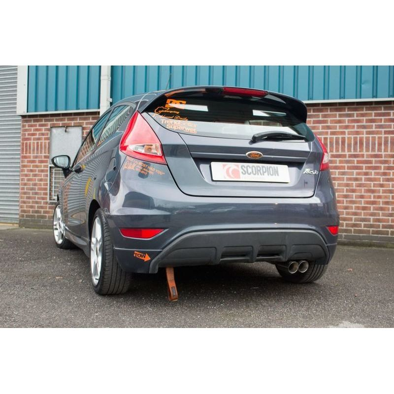 ford fiesta mk7 1 6 duratec ti vct zetec s 2 5 non resonated cat back exhaust. Black Bedroom Furniture Sets. Home Design Ideas