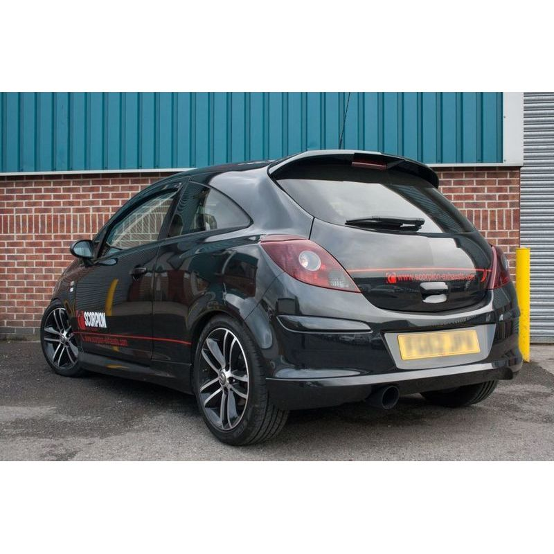 vauxhall corsa d 1 4 turbo black edition 2 5 non resonated cat back exhaust black tails. Black Bedroom Furniture Sets. Home Design Ideas