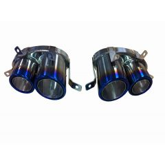 Audi R8 V8 Stainless Steel Burnt Finish Tailpipes